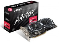MSI RX 580 ARMOR 8G OC RX580 8GB GDDR5 1366MHz 256Bit PCI Express DL-DVI-D / HDMI / 2xDisplayPort DirectX 12 VR Ready Gaming Video Card