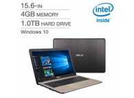 "ASUS 15.6"" X540MA-QC1-CB 15.6 inch Celeron N4000 4GB LPDDR4 RAM / 1TB 5400rpm HDD / Intel HD Windows 10 Mainstream Notebook"
